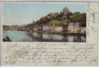 AK Gruss aus Saarburg Ortsansicht bei Trier 1898