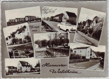 AK Mehrbild Hannover Waldheim Waldheimstraße Roßkampfstraße Liebrechtstraße 1965