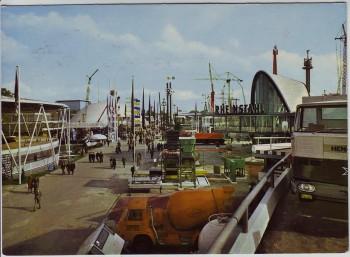 AK Foto Hannover Messe Teilansicht des Freigeländes 1960