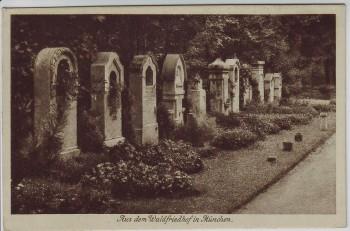 AK Hadern Großhadern Aus dem Waldfriedhof in München 1913
