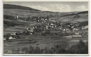 VERKAUFT !!!   AK Foto Seitendorf Katzbach Ortsansicht Mysłów b. Bolków Niederschlesien Polen 1935