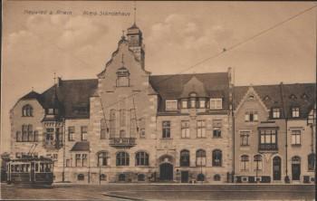 VERKAUFT !!!            AK Neuwied a. Rhein Kreis-Ständehaus mit Straßenbahn 1910