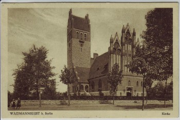 AK Berlin Waidmannslust Blick auf Kirche 1928