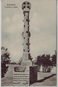 AK Berlin Grunewald Blick auf Schildhorn Säule 1914