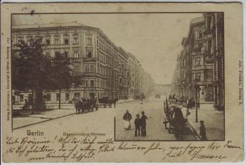 AK Berlin Kreuzberg Blick in Hagelsberger Strasse Hagelberger Strasse 1902 RAR