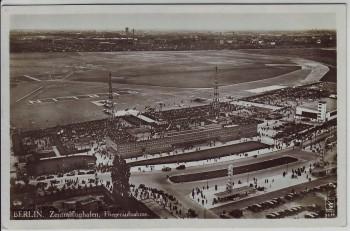 AK Foto Berlin Tempelhof Zentralflughafen Fliegeraufnahme 1931
