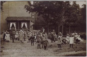 AK Foto Bad Blankenburg Kindergarten viele Kinder 1914 RAR