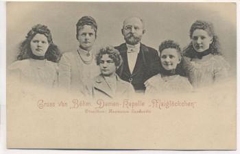 AK Gruss von der Böhmischen Damen-Kapelle Maiglöckchen Böhmen 1900