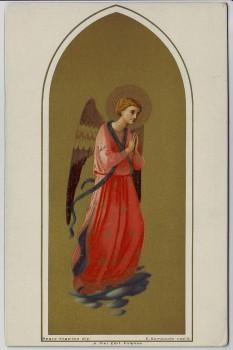 Künstler-AK Litho Beato Angelico Religion Engel betend 1910