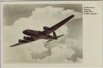 AK Foto Verkehrsflugzeug Focke-Wulf Fw 200 Condor 1940