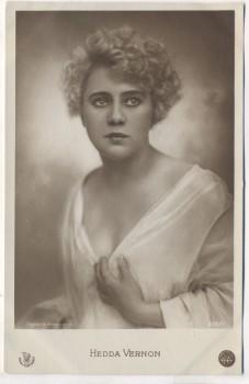 AK Foto Hedda Vernon Deutsche Schauspielerin 1915