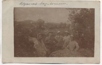 AK Foto Soldaten 1. WK in Bulgarisch-Mazedonien 1916