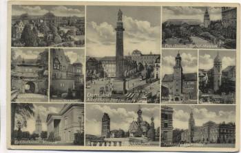 VERKAUFT !!!   AK Mehrbild Darmstadt 10 Bilder Paradeplatz Schloß Adolf-Hitler-Platz ... 1935