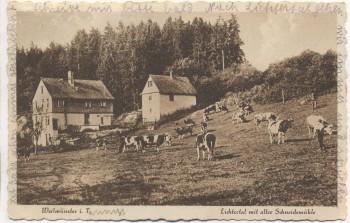 VERKAUFT !!!   AK Weilmünster im Taunus Lichtertal mit alter Schneidemühle 1929