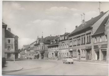 AK Foto Naunhof Leipziger Straße mit Auto 1976