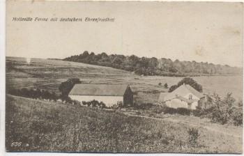 AK Molleville Ferme mit deutschen Ehrenfriedhof Lothringen 1. WK Frankreich 1917