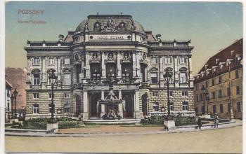 AK Bratislava Pressburg Pozsony Theater 1919