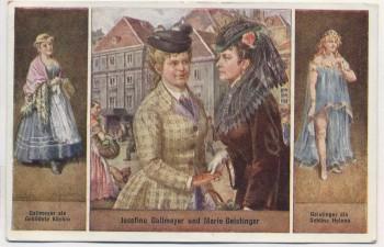 AK Schauspielerin Josefine Gallmeyer und Marie Geistinger 1920