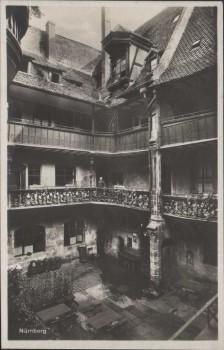 AK Nürnberg Historischer Hof in der Tucherstrasse 20 1920