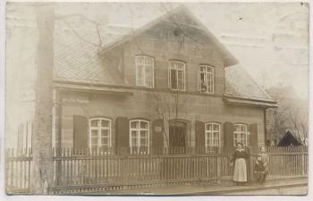 VERKAUFT !!!   AK Foto Schweinau Nürnberg Schweinauer Hauptstrasse mt Haus und Menschen 1910 RAR