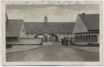 VERKAUFT !!!   AK Foto Frankfurt am Main Hausen Kaserne Eingang 1.Flak-Regt. Nr. 29 Feldpost 1941