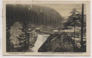 VERKAUFT !!!   AK Hirschberg in Schlesien Die neue Bobertalsperre bei Boberröhrsdorf Jelenia Góra Riesengebirge Polen 1927