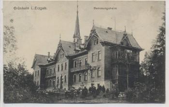 AK Grünhain im Erzgebirge Genesungsheim b. Beierfeld 1914