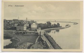 AK Pillau Hafeneinfahrt Baltijsk Ostpreußen Russland 1911