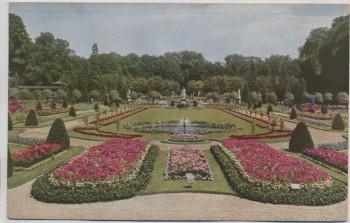 AK Foto Stuttgart Offizielle Postkarte Nr. 14 Württbg. Gartenbauaustellung Früherer königl. Privatgarten 1924