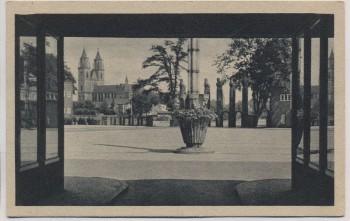 AK Magdeburg Durchblick zum Ehrenhof 1920