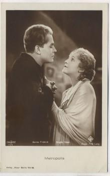 VERKAUFT !!!  AK Foto Metropolis Gustav Fröhlich Brigitte Helm Schauspieler UFA Verlag Ross Berlin 1927