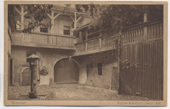 AK Weimar Kirms-Krackow-Haus Hof 1920