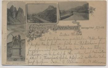 AK Gruss aus Ebernburg Sickinger Hof Bad Münster am Stein 1900