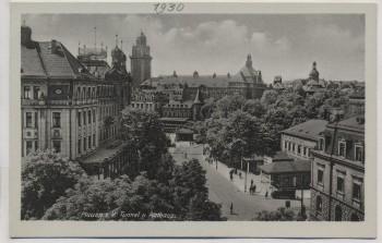 AK Foto Plauen im Vogtland Tunnel und Rathaus 1930
