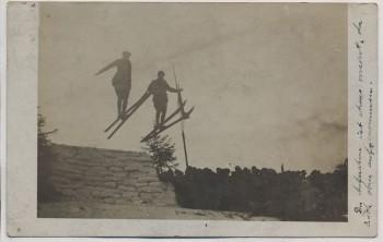 AK Foto Johanngeorgenstadt Verbandsskifest Skispringen Doppelsprung Schanze 1910 absolut RAR