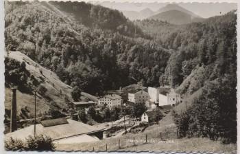 VERKAUFT !!!   AK Foto Maxhütte b. Bergen (Chiemgau) Oberbayern Stempel Gasthof zum Eisenhammer 1957