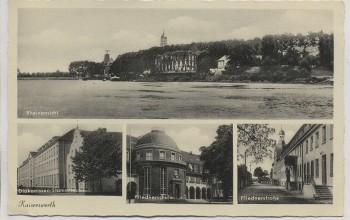 VERKAUFT !!!   AK Mehrbild Kaiserswerth Düsseldorf Rheinansicht Fliednerschule Fliednerstraße ... 1935