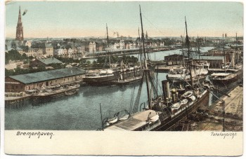 AK Bremerhaven Totalansicht 1910