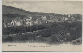 AK Wiesbaden Nerotalanlagen mit griechischer Kapelle 1904