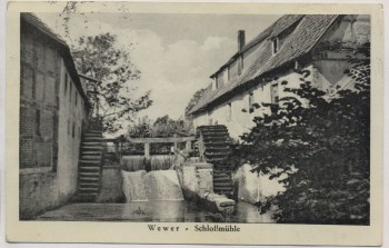 VERKAUFT !!!   AK Wewer Schloßmühle b. Paderborn 1939 RAR