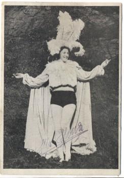 AK Ilse Ilona Die weltbekannte Luft- und Drahtseilkünstlerin signiert 1948