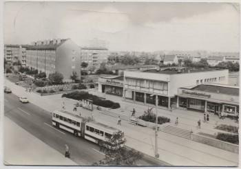 VERKAUFT !!!   AK Foto Merseburg West Gaststätte und Cafe Freundschaft Strassenbahn 1978