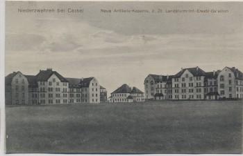 AK Niederzwehren bei Kassel Neue Artillerie-Kaserne z. Zt. Landsturm-Inf.-Ersatz-Bataillon Feldpost 1915