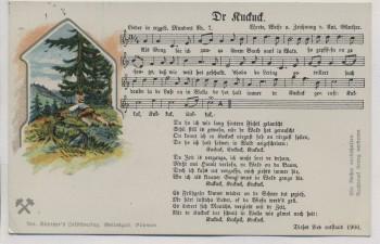 VERKAUFT !!!   AK Liedkarte Anton Günther Nr. 7 Dr Kuckuck 1910