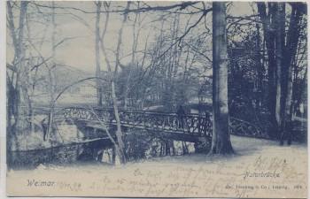 AK Weimar Naturbrücke im Park 1899