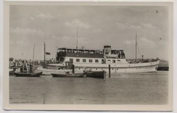 VERKAUFT !!!   AK Foto Vitte auf Hiddensee Überfahrtsdampfer 1958