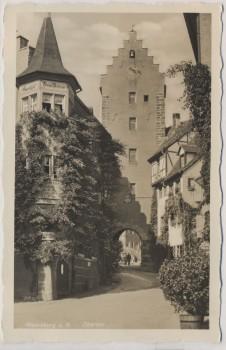 AK Foto Meersburg am Bodensee Obertor 1940