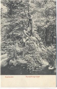 AK Karlsruhe Nymphengruppe 1910