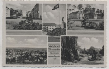 VERKAUFT !!!   AK Foto Mehrbild Waldstadt Eberswalde Kaserne des Artillerie Regiments 75/II 1943 RAR