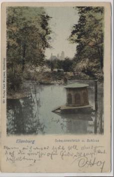 VERKAUFT !!!   AK Eilenburg Schwanenteich und Schloss 1901 RAR